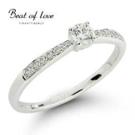 Timanttisormus Beat of Love R-13735DW (0,30 ct)