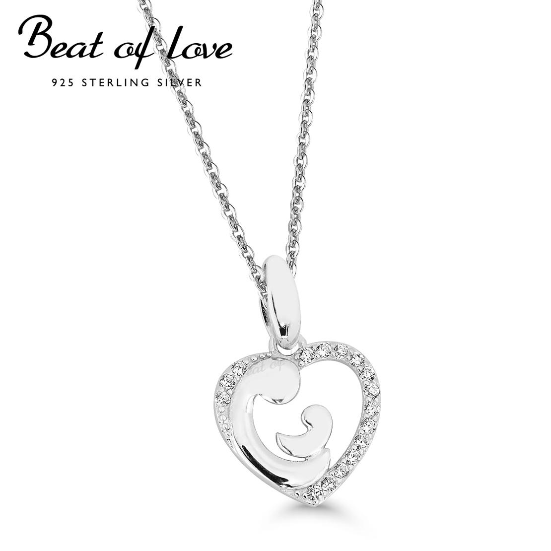 Aiti-lapsi kaulakoru hopeaa Beat of Love BOL-N0293Z – Verkkolahja 8f92e60d26
