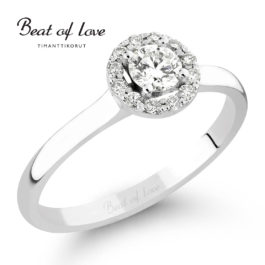 Timanttisormus Beat of Love Halo (0,28 ct)